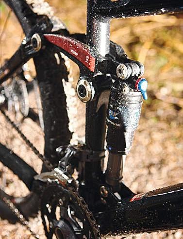 The Fox RP2 shock does a good job of slaying pedal bob