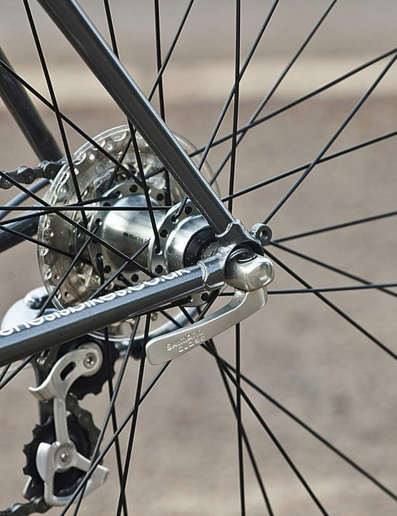 Shimano's 105 transmission guarantees miles of smooth, effortless shifting and feels right for the Equilibrium