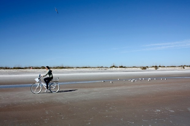 At least the beaches are safe for bikes.
