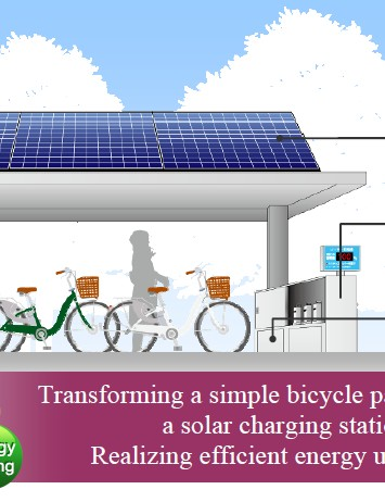 Sanyo's new Solar Parking Lots in Tokyo store energy from the sun in Li-ion batteries that can then be used to charge e-bikes
