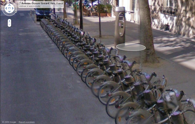 Velib station, Paris
