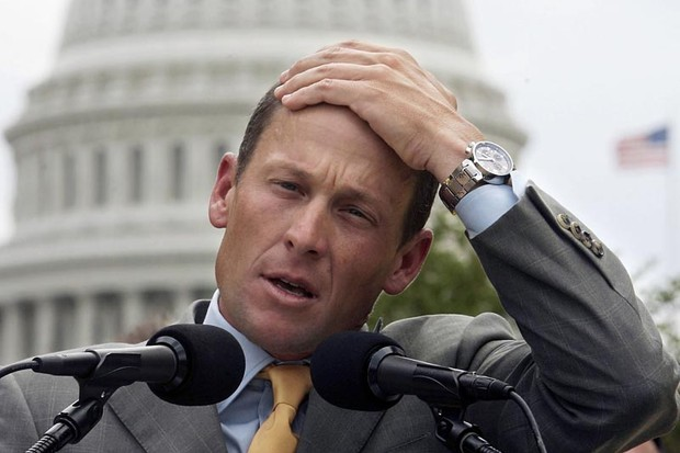 Lance Armstrong speaks during a news conference May 17, 2006 on Capitol Hill in Washington, DC
