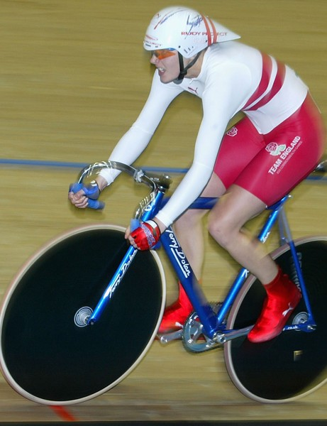 Victoria in action during the 2002 Commonwealth Games in Manchester, England