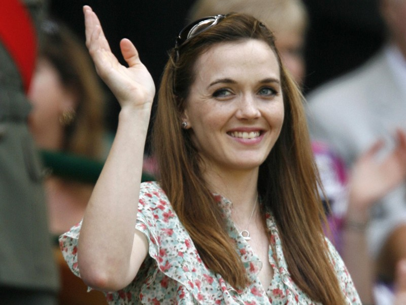 Victoria is introduced to the crowd on Centre Court in the third round of the 2009 Wimbledon Tennis Championships
