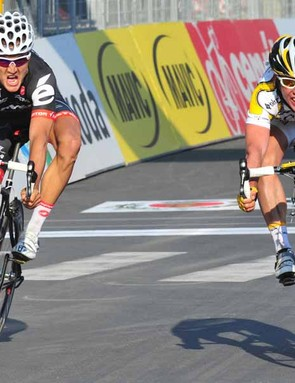 Mark Cavendish (R) and Heinrich Haussler (L) finished 1-2 in Milan-San Remo last year