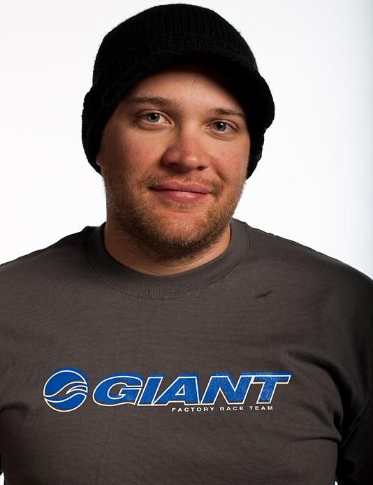 Giant downhill team manager and mechanic Joe Staub