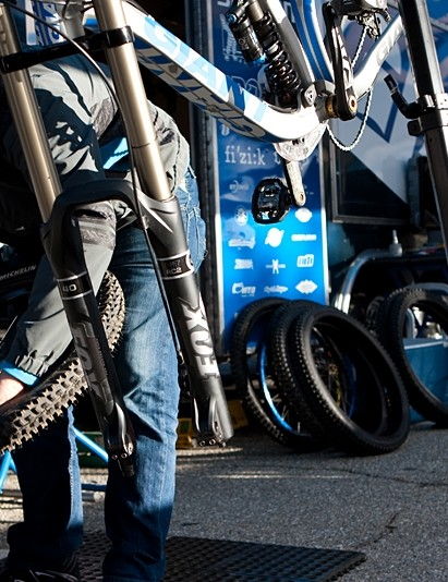 The team go through hundreds of tyres in a season