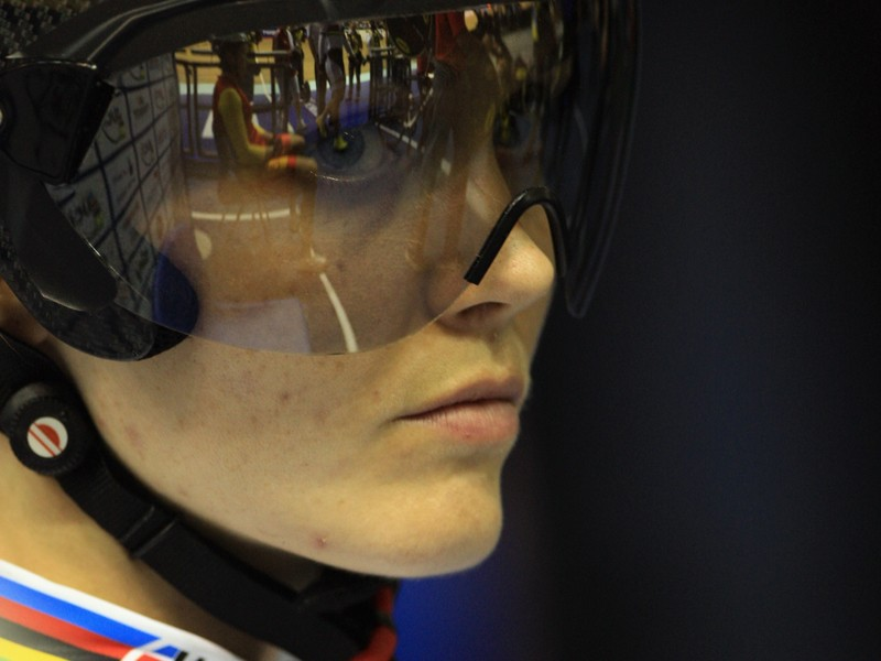 Victoria at the Track Cycling World Cup round at Manchester Velodrome last year