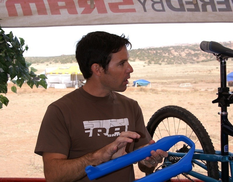 Sander Rigney at RockShox's 2008 SID suspension fork launch in Moab, Utah.