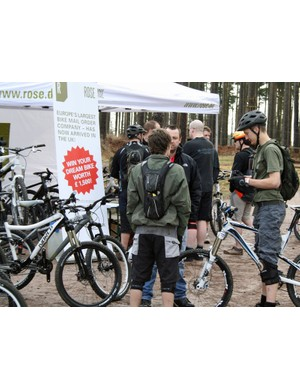 Bikes from new-to-the-UK Rose proved popular with the demo riders