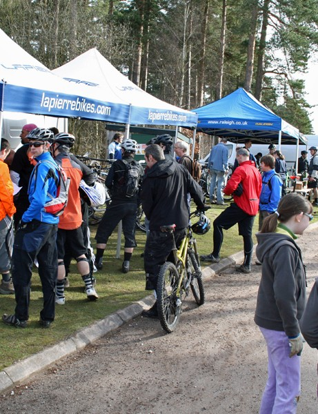 The Lapierre stand was surrounded by eager riders all day