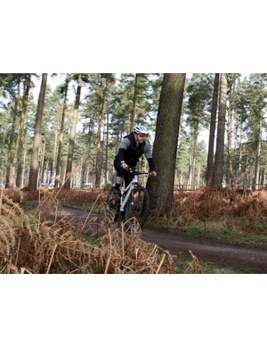 Visitors could try out the latest bikes on a short loop that took in part of the Follow The Dog trail and stretches of fire road