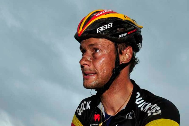 A grimy Tom Boonen after finishing second in Milan-San Remo on Saturday