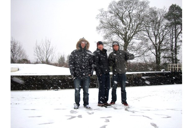 Scott, Russ and Doddy about to get snowed in at Fort William