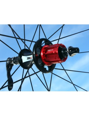 Easton's R4SL hubs offer four freehub options: Shimano 10-speed (pictured), Shimano 8/9/10, SRAM Red only and Campagnolo.