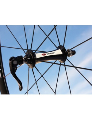 Easton's R4SL hubs feature grade 3 ceramic bearings standard, front and rear.