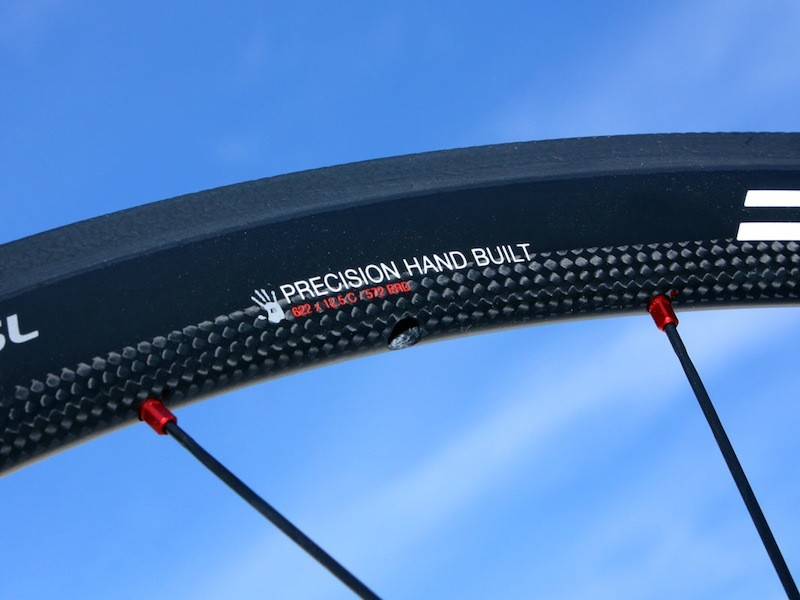 The EC90SL clincher rim is built to handle braking heat, but the construction also allows the use of external nipples.
