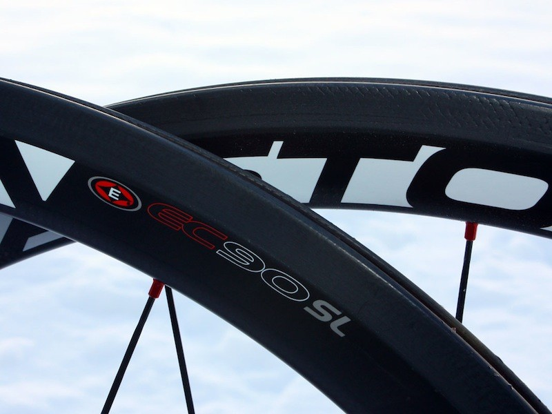Easton's ThermaTec coating is molded to the rims and allows them to better dissipate braking heat.