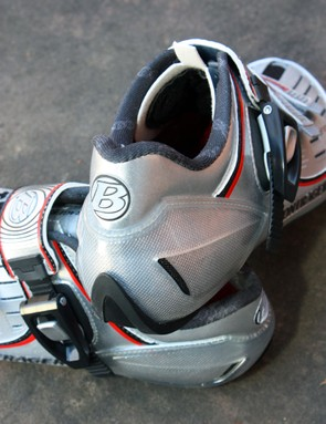 Improved heel cup shaping results in much less slip than before