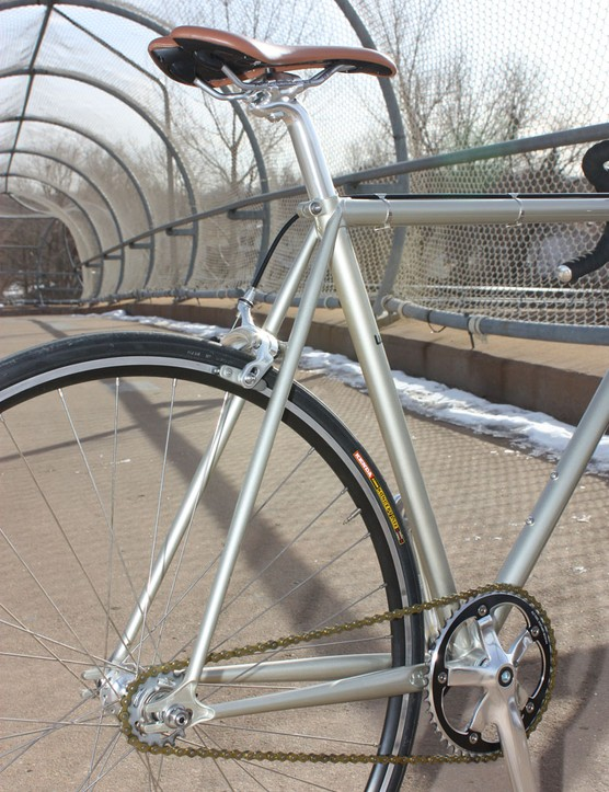 The relatively small-diameter and thin-walled steel tubing provides a wonderfully springy and resilient ride