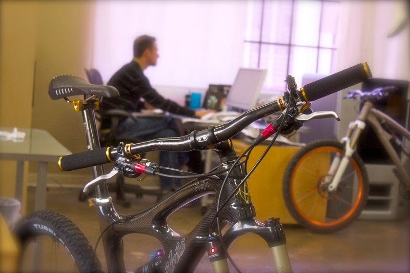 CrankBrothers co-founder Carl Winefornder hard at work dreaming up new component designs