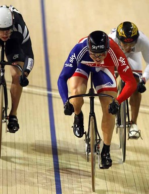 Chris Hoy salvaged some pride for the Brits by winning the men's keirin