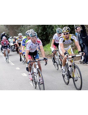 Gilbert and Eisel in the break