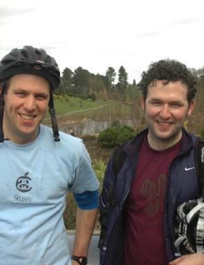 James Potter and Luke Robbins enjoyed not having to wash their bikes