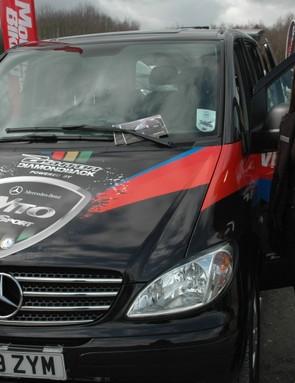 The Ashton Diamondback Mercedes Vito Sport was there for riders to check out