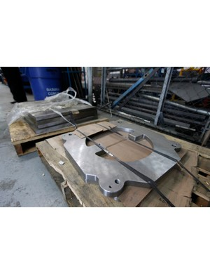 Mold blanks are received in this condition and are machined in-house to suit the application at hand