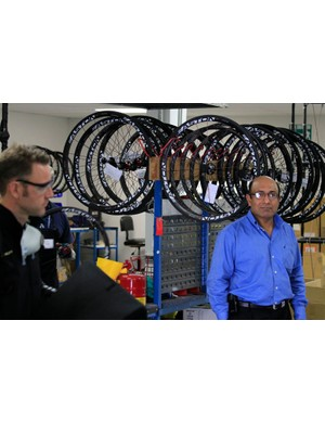 Sayeed Syed (right) is the man behind Easton's carbon fibre renaissance