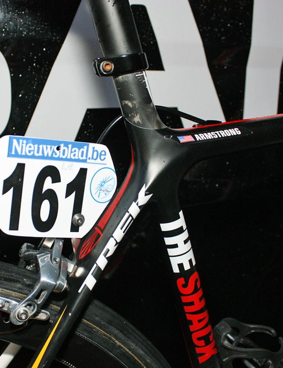 Armstrong is flying number 161 for today's race.