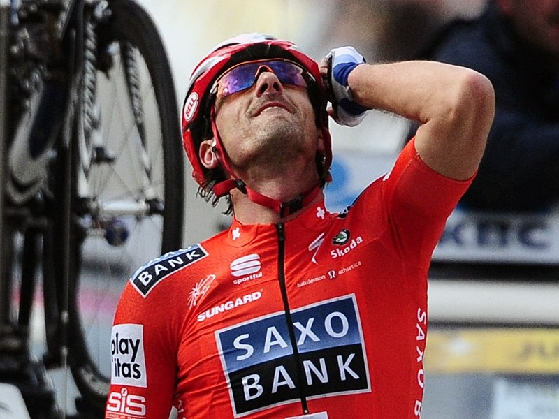 Fabian Cancellara followed up his E3 prijs victory with another in the Tour of Flanders