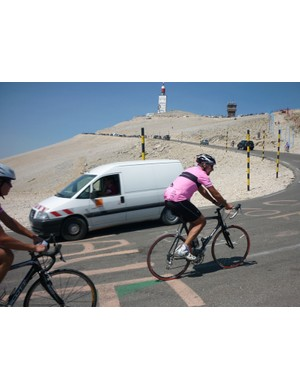 Our blogger Andrew Croker nears the summit of Mont Ventoux