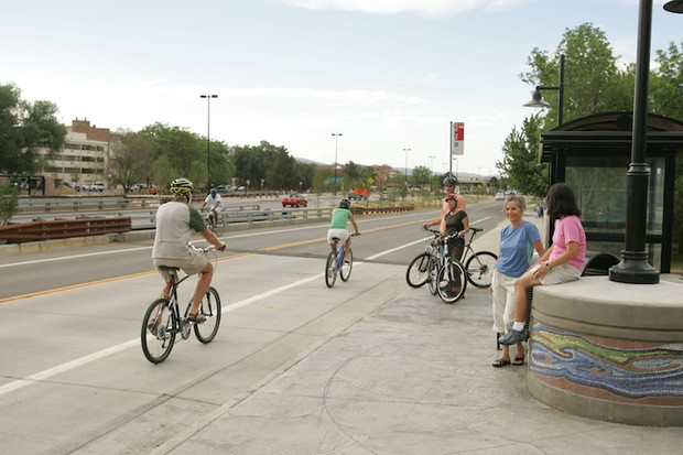 A 'complete street' has provisions for motorized and non-motorized users.