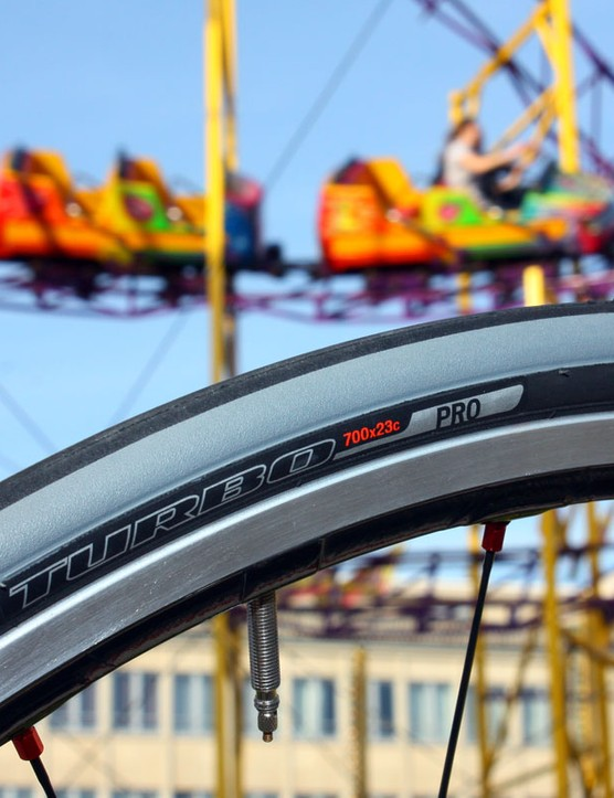 Specialized debuted their new Turbo line at the Saxo Bank team hotel in Kortrijk, Belgium