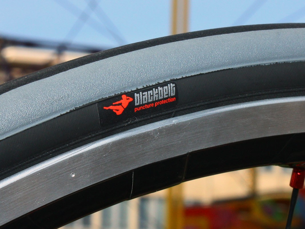 The new Turbo tyres feature a 'BlackBelt' breaker underneath the tread to guard against punctures