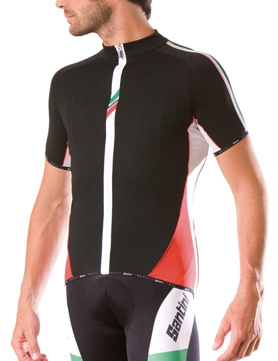 Santini Pride jersey and bib shorts