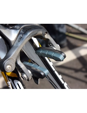 Shimano's latest carbon-specific brake blocks are still in prototype form but are found here.