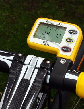 SRM's latest PowerControl VI computer is coloured to match the rest of the team gear.