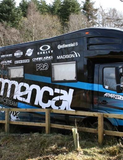 Team Commencal tour bus