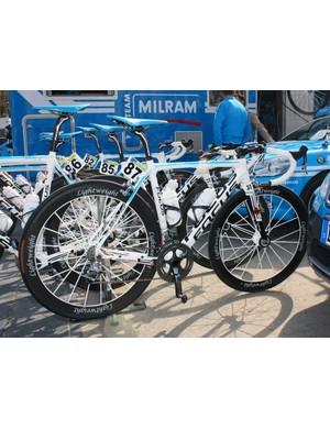 Milram are again using their Focus Izalco bikes as they head into the last race before Paris-Roubaix