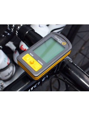 CycleOps' new Joule 2.0 computers are fitted to the stems of the Omega Pharma-Lotto rigs