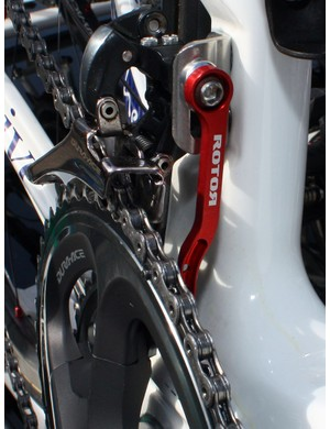 Rotor's new chain watcher makes an appearance on Jimmy Casper's (Saur-Sojasun) machine