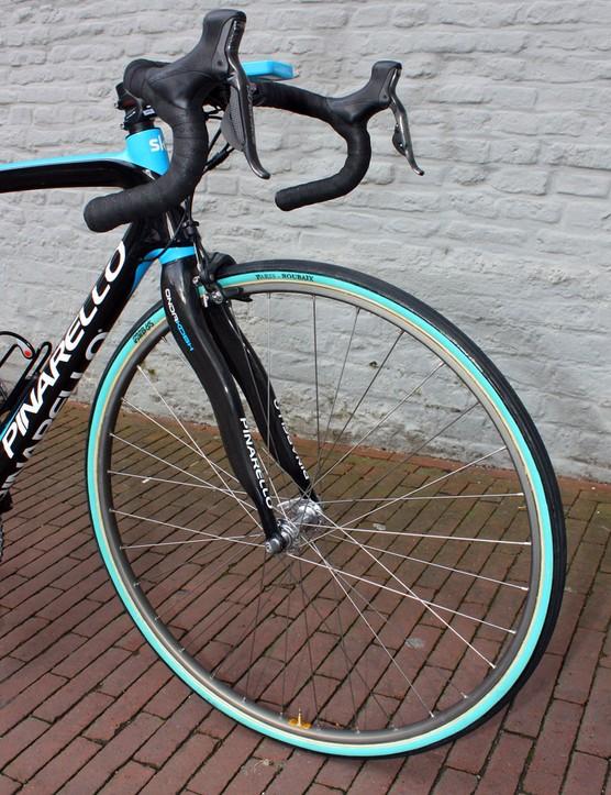No surprises here: Flecha will run traditional box-section alloy tubular rims for Paris-Roubaix's brutal cobbles.