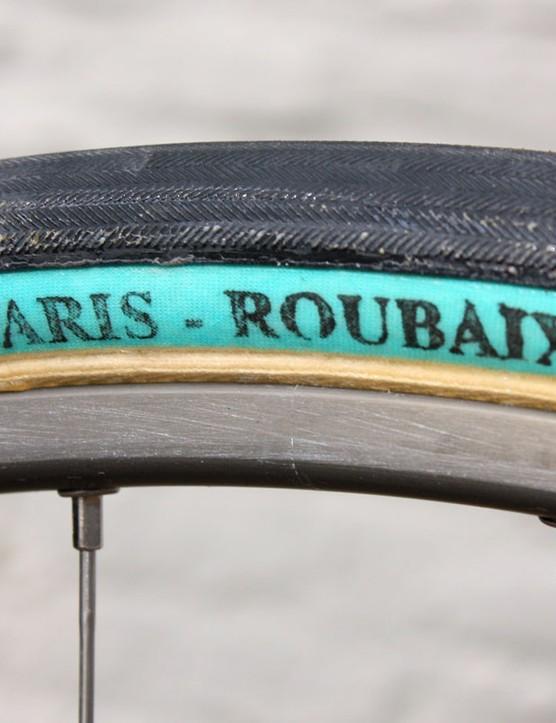 Team Sky will use FMB's giant 27mm-wide Paris-Roubaix Pro tubulars.