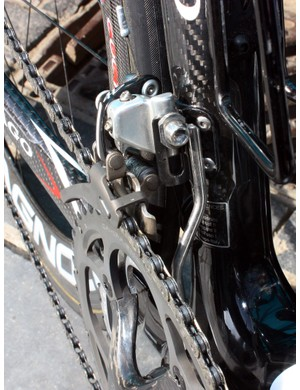 Bonnet's bike includes a custom chain watcher whose design has now been mimicked by others in more modern machined aluminium.