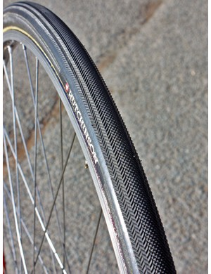 Muddy conditions will see the team on these special Hutchinson tubulars with their far more aggressive - albeit slower-rolling - tread pattern.