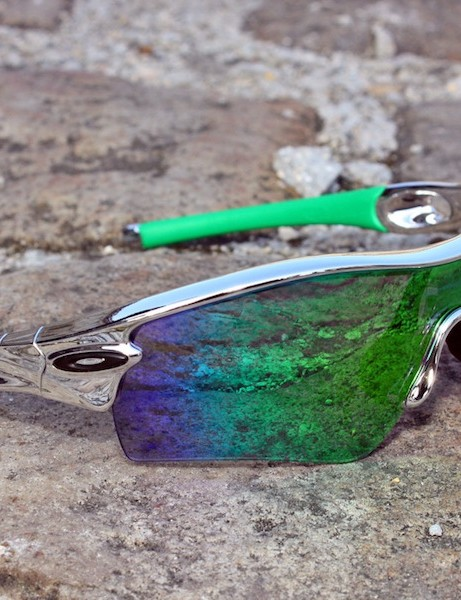 Oakley debuted a new Limited Edition Chrome BMX Array Collection here at Paris-Roubaix.