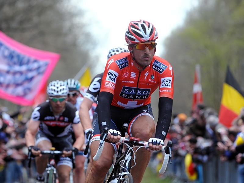 Fabian Cancellara on his way to winning the 108th Paris-Roubaix